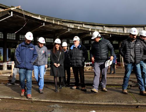 En plena ejecución están las obras de mejoramiento de la Casa de Máquina, Museo Ferroviario de Temuco