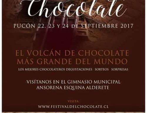 22 al 24 septiembre: #Pucón se endulzará con el Festival del Chocolate