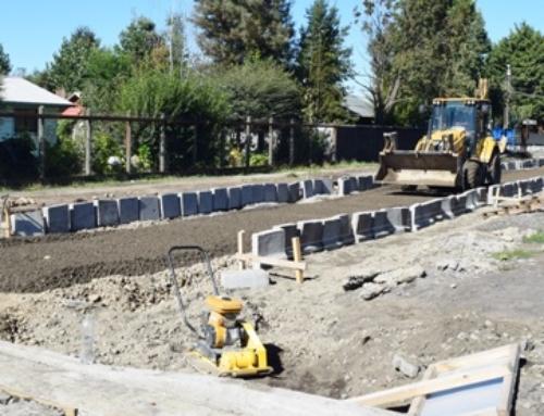 Obras de pavimentación son ejecutadas en Licán Ray #Villarrica