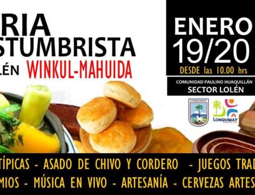 19 y 20 de enero: Feria costumbrista Winkul Mahuida #Lonquimay