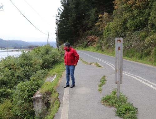 Comienzan obras de mejoramiento de ruta de acceso a Caleta de Queule en la comuna de Toltén