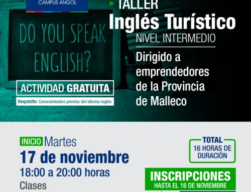 Inicia el 17 de noviembre: Taller de Inglés Turístico Nivel Intermedio