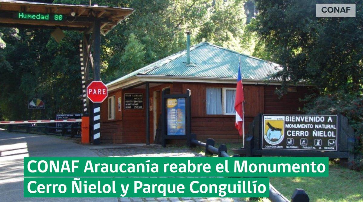 Conaf Araucanía reabre el Monumento natural Cerro Ñielol y el Parque Conguillío